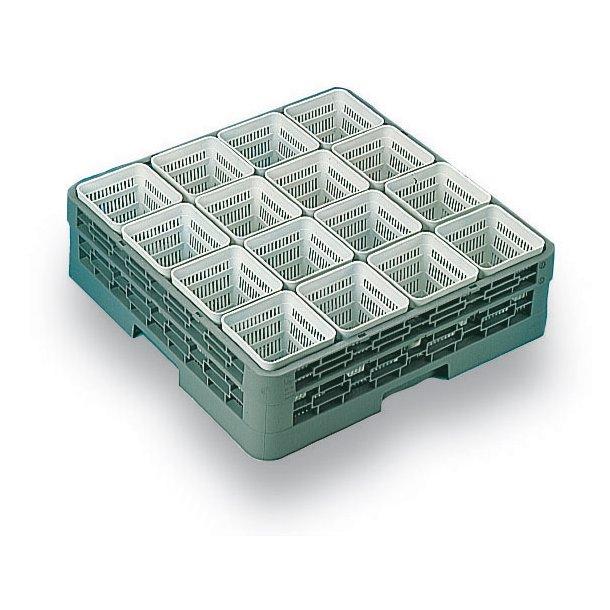 Bestikbøtte firkantet hvid plast 11x11 c