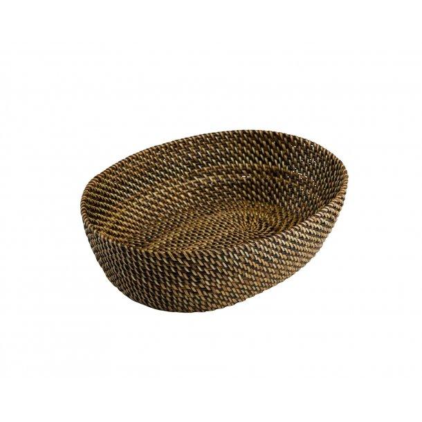 Brødkurv lys/mørk oval 24,5 cm.