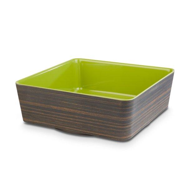 HV skål melamin brun/grøn 26,5x26,5 cm.