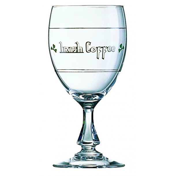 Irish coffee glas med tekst 24,0 cl