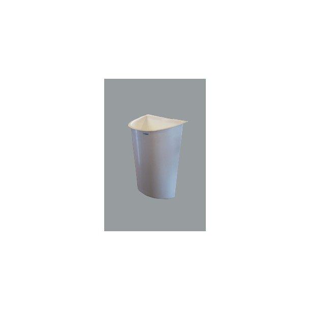 Affaldsspand til vogn hvid plast 30 L