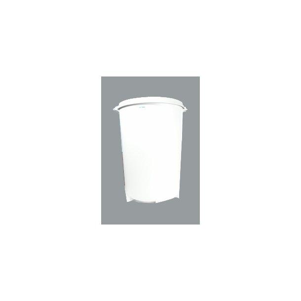 Affaldsspand grå rund u/låg 40 L