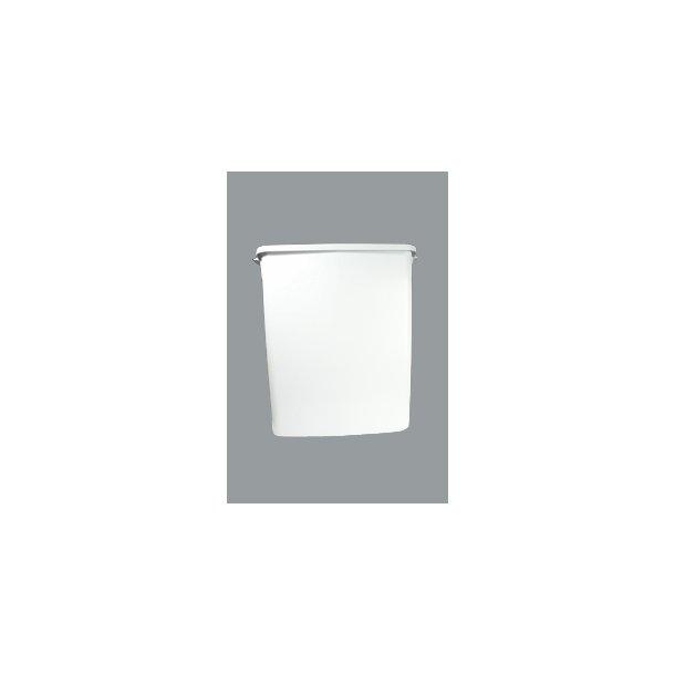 Affaldsspand grå regt. u/låg 60 L