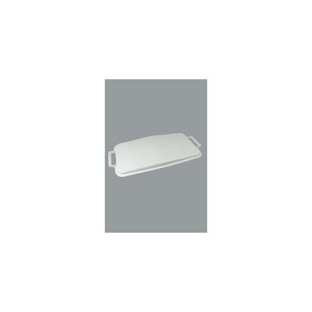 Affaldsspandelåg grå 60 L