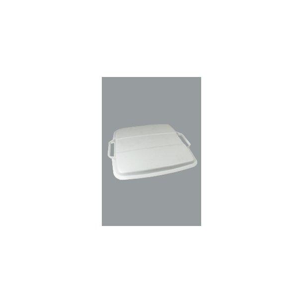 Affaldsspandelåg grå 90 L
