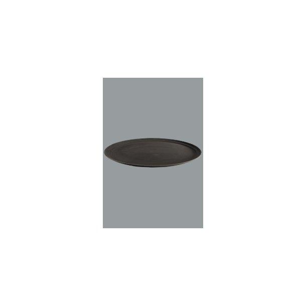 Bakke sort skridsikker oval 74x60 cm