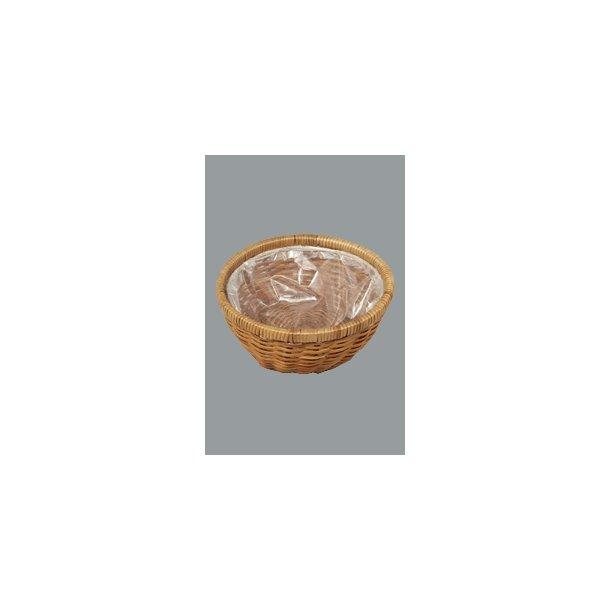 Brødkurv brun flet Ø 12 cm