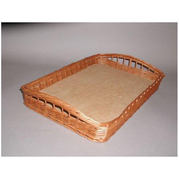 Brødkurv rekt. m/træbund  48x33 cm.