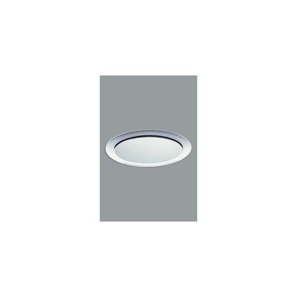 Fad med fane Oval Rustfri 45x32 cm
