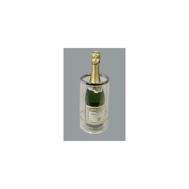 Flaskekøler acryl m crom Ø 11,5 cm