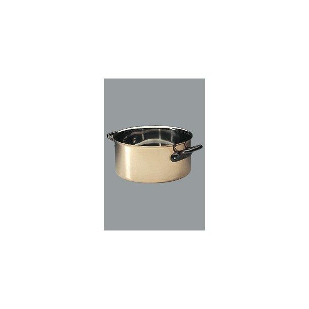 Gryde Bourgeat kobber 3670.28cm  8,6 L.