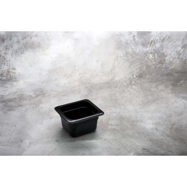 Kantine sort polycarbonat 1/6 GN x  65mm
