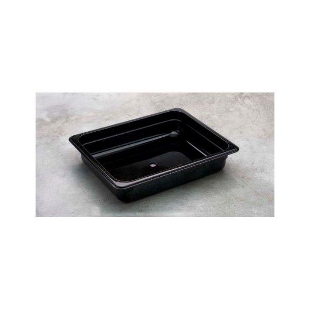 Kantine sort polycarbonat 1/2 GN x 150mm