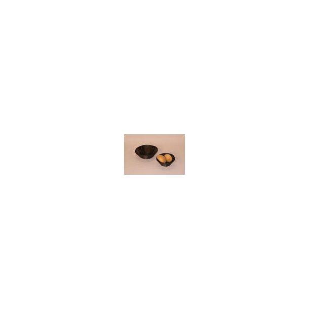 Brødkurv sort plast Ø 18 cm. UDGÅR