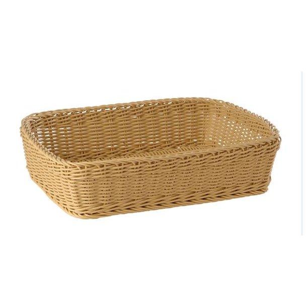 Brødkurv plast oval brun 29,5x20,5x13 cm