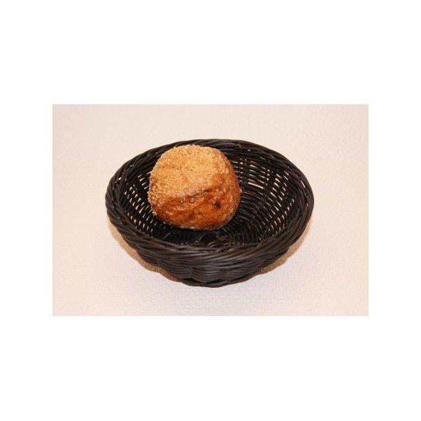 Brødkurv sort plast Ø 20 cm.