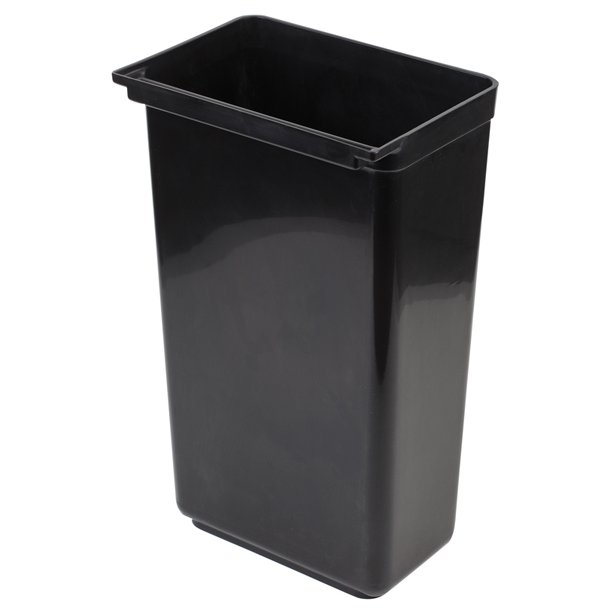 Affaldsspand sort til vogn 42 L H 56 cm.